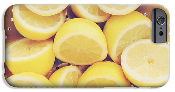 Lemon iPhone Cases - Fresh Lemons iPhone Case by Amy Tyler
