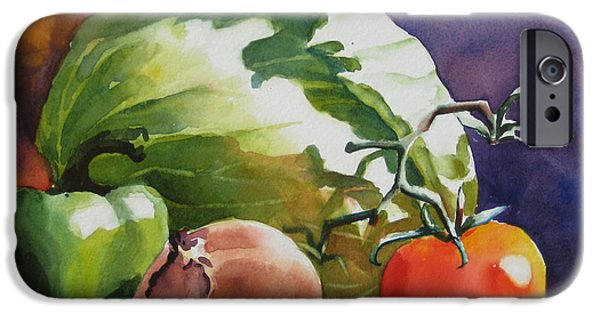 Food iPhone Cases - Fresh Vegetables iPhone Case by Sue Zimmermann