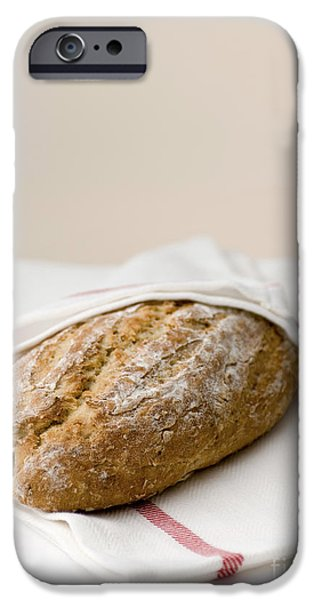 freshly baked whole grain bread iPhone Case by Shahar Tamir