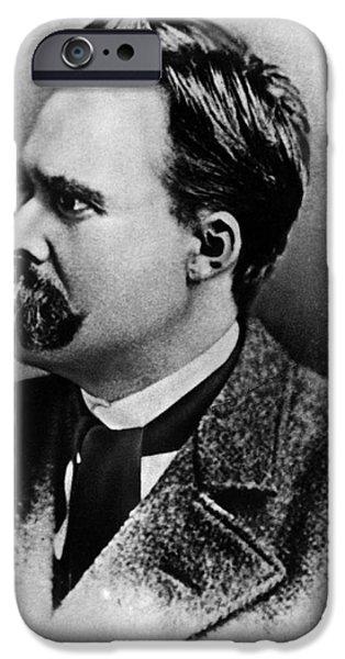 Objectivity iPhone Cases - Friedrich Wilhelm Nietzsche, German iPhone Case by Omikron