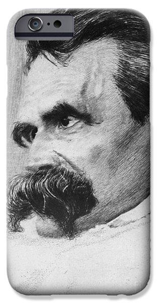 Objectivity iPhone Cases - Friedrich Wilhelm Nietzsche, German iPhone Case by Photo Researchers