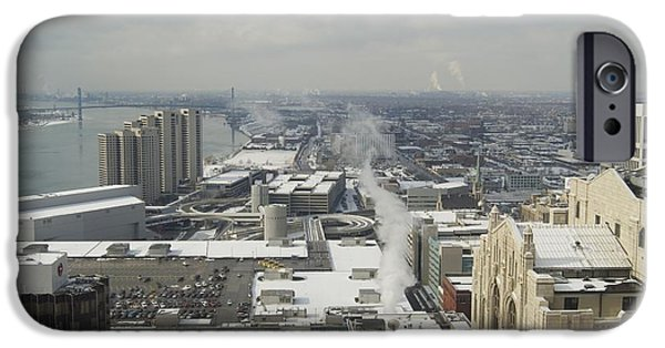 City Scape iPhone Cases - From Atop the Guardian 1758 iPhone Case by Michael Peychich