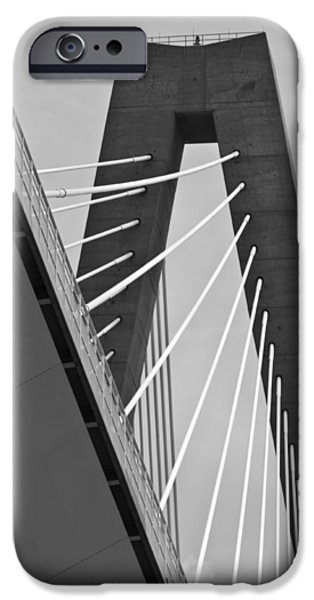 Arthur iPhone Cases - From Below the Arthur Ravenel Jr. Bridge iPhone Case by Dustin K Ryan