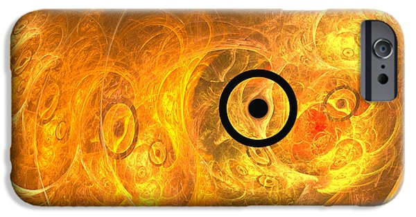 Contemporary Abstract iPhone Cases - From phase to face iPhone Case by Sipo Liimatainen