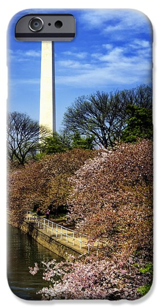 Patriotism iPhone Cases - From the Basin to the Monument iPhone Case by Joan Carroll