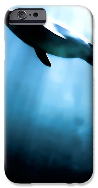 Sea Birds Digital Art iPhone Cases - From the depths iPhone Case by Sharon Lisa Clarke