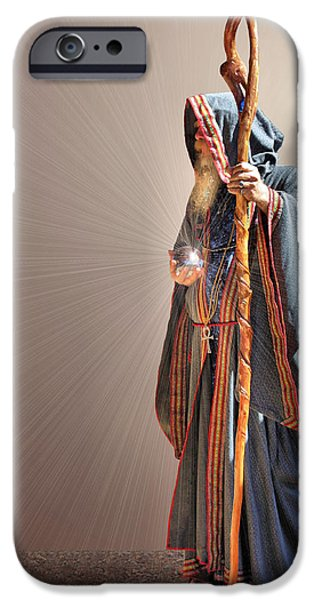 Concentration Digital iPhone Cases - From Within and From Without iPhone Case by Kristin Elmquist