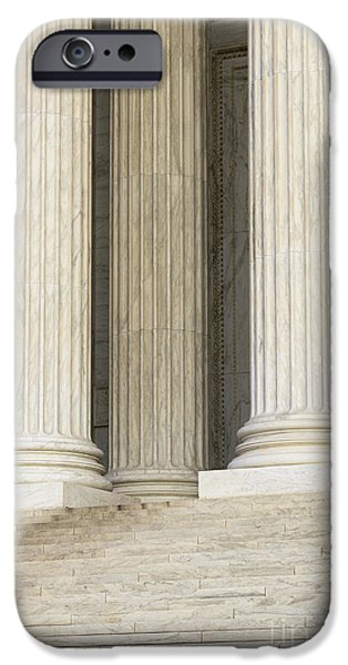 Front Steps and Columns of the Supreme Court iPhone Case by Roberto Westbrook