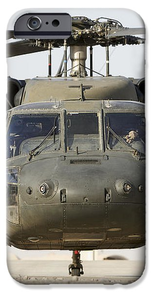 Front View Of A Uh-60l Black Hawk iPhone Case by Terry Moore