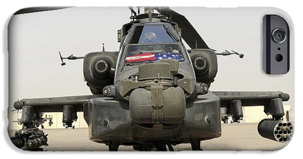 Iraq iPhone Cases - Front View Of An Ah-64d Apache Longbow iPhone Case by Stocktrek Images