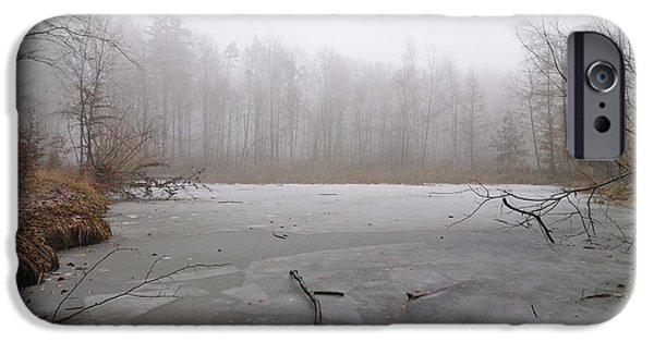 Wintertime iPhone Cases - Frozen lake in winter iPhone Case by Matthias Hauser