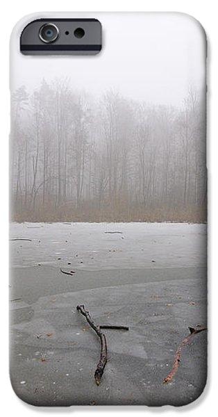 Frozen lake in winter iPhone Case by Matthias Hauser