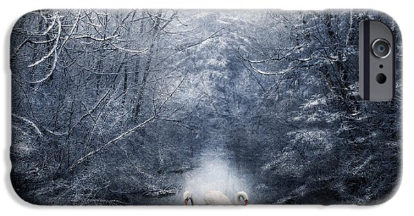Snowy Mixed Media iPhone Cases - Frozen Time iPhone Case by Svetlana Sewell