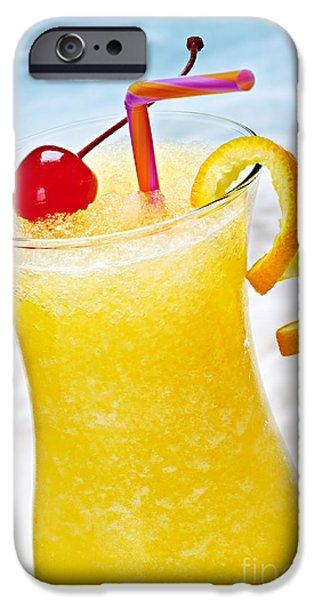 Frozen tropical orange drink iPhone Case by Elena Elisseeva