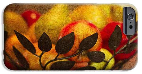 Pears iPhone Cases - Fruit Al Fresco iPhone Case by Rebecca Cozart