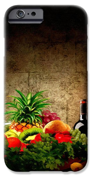 Fruit and Wine iPhone Case by Lourry Legarde