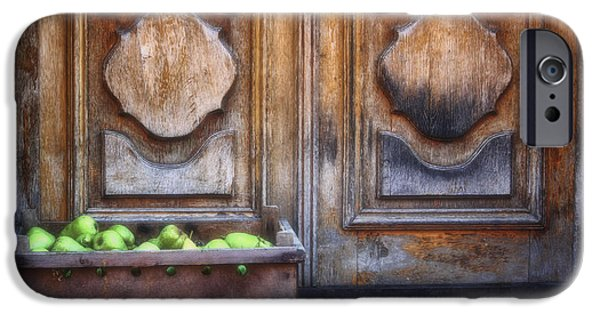 Wooden Crate iPhone Cases - Fruit delivery iPhone Case by Joan Carroll