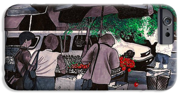 Business iPhone Cases - Fruit Vendor Brooklyn NYC iPhone Case by Al Goldfarb