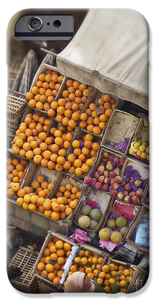Fruit Vendor in the Kahn iPhone Case by Mary Machare