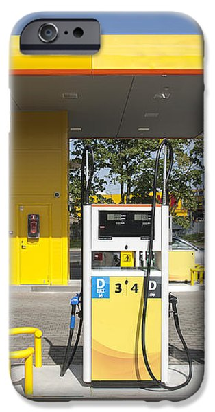 Fuel Pump at a Gas Station iPhone Case by Jaak Nilson