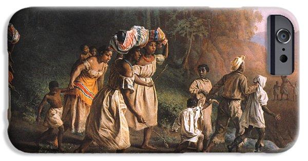 Escape iPhone Cases - Fugitive Slaves, 1867 iPhone Case by Granger