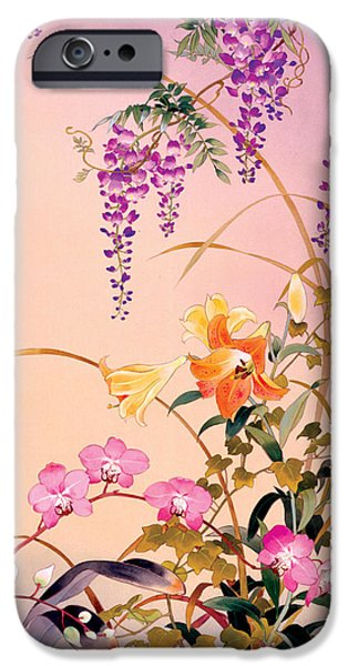 Cherry Blossoms iPhone Cases - Fuji & Juri iPhone Case by Haruyo Morita