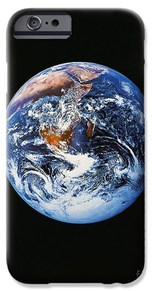 Terrestrial Sphere iPhone Cases - Full Earth From Space iPhone Case by Stocktrek Images
