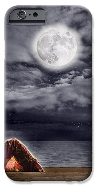 Full Moon Beauty iPhone Case by Leanne M Williams