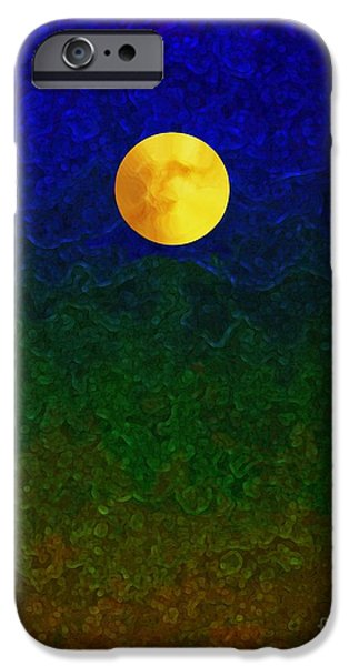 Full Moon iPhone Case by Dale   Ford