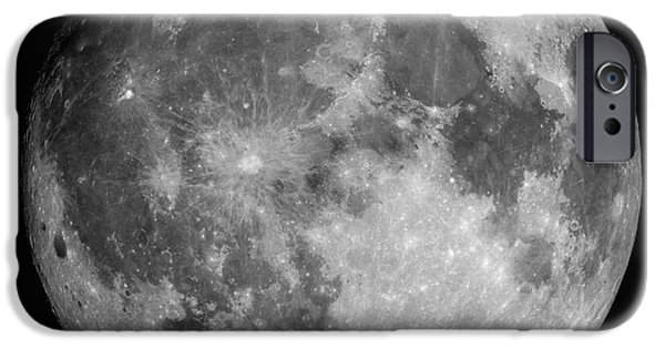 Moon iPhone Cases - Full Moon iPhone Case by Roth Ritter