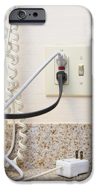 Electrical Socket iPhone Cases - Fully Loaded Electrical Plug iPhone Case by Thom Gourley/Flatbread Images, LLC