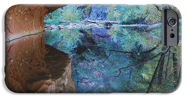 Oak Creek Canyon iPhone Cases - Fully Reflected iPhone Case by Heather Kirk