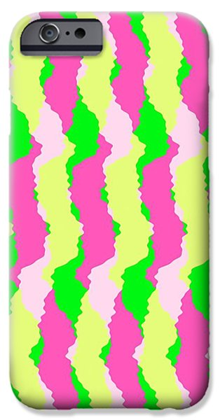 Louisa iPhone Cases - Funky Stripes iPhone Case by Louisa Knight