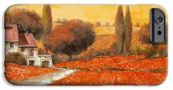 Stairs iPhone Cases - fuoco di Toscana iPhone Case by Guido Borelli
