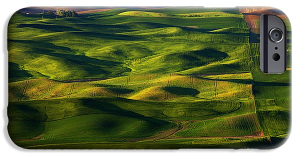 Crops iPhone Cases - Furrows and Folds iPhone Case by Mike  Dawson