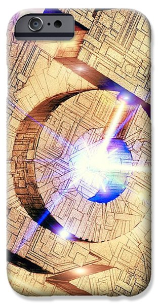 Component iPhone Cases - Future Computing, Conceptual Image iPhone Case by Richard Kail