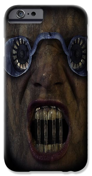 Creepy iPhone Cases - Future horrors  iPhone Case by Nathan Wright