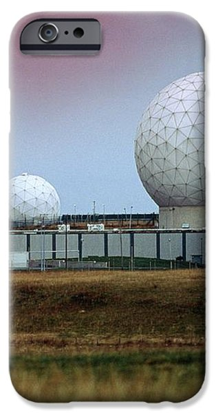 Fylingdales Long-range Radar Station, Uk iPhone Case by Vaughan Fleming