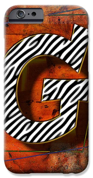 Abstract Digital Pyrography iPhone Cases - G iPhone Case by Mauro Celotti