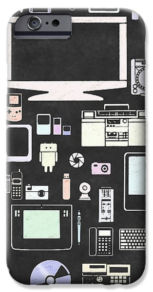 gadgets icon iPhone Case by Setsiri Silapasuwanchai