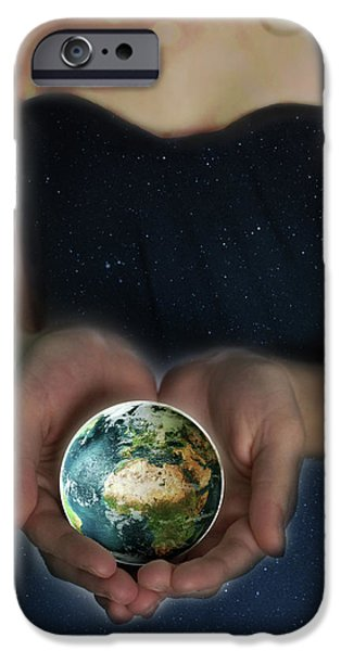 Gaia iPhone Cases - Gaia iPhone Case by Lisa Knechtel