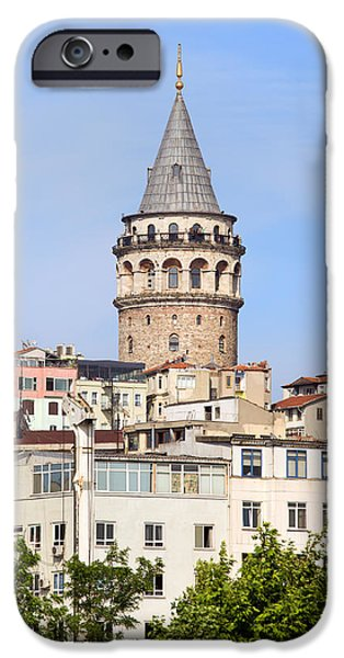 Galata Tower in Istanbul iPhone Case by Artur Bogacki