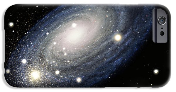 Stellar Drawings iPhone Cases - Galaxy iPhone Case by Atlas Photo Bank and Photo Researchers