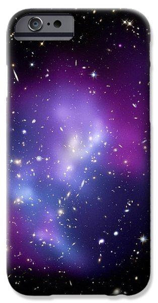 Galaxy Cluster Macs J0717 iPhone Case by Nasacxcstscima Et Al