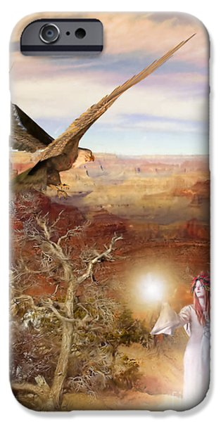 Painter Digital Art iPhone Cases - Galdorcraeft iPhone Case by John Edwards