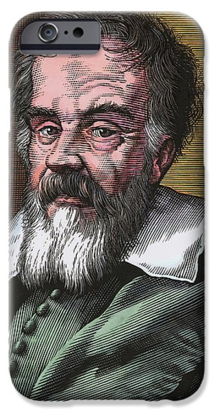 World System iPhone Cases - Galileo Galilei, Italian Astronomer iPhone Case by Bill Sanderson