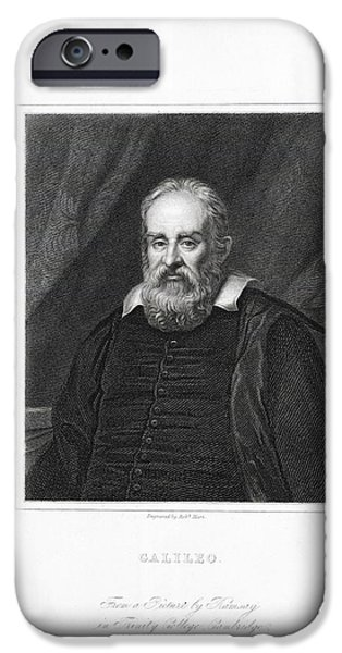 Caption iPhone Cases - Galileo Galilei, Italian Astronomer iPhone Case by Library For The Performing Artsnew York Public Library