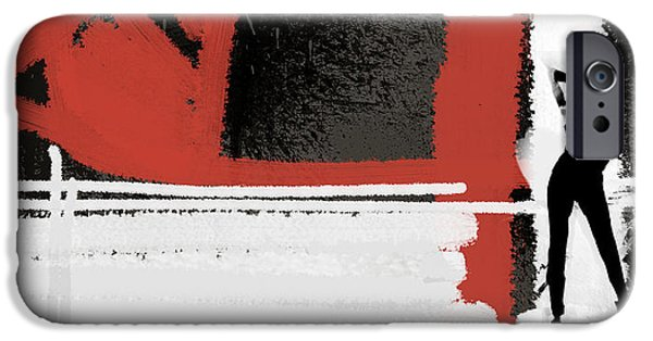 Gallery Paintings iPhone Cases - Gallery iPhone Case by Naxart Studio