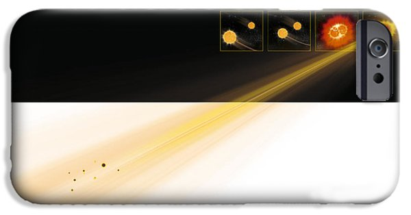 Stellar iPhone Cases - Gamma Ray Burst Formation iPhone Case by Claus Lunau