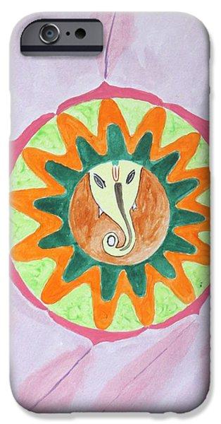 Ganesh Mandala iPhone Case by Sonali Gangane